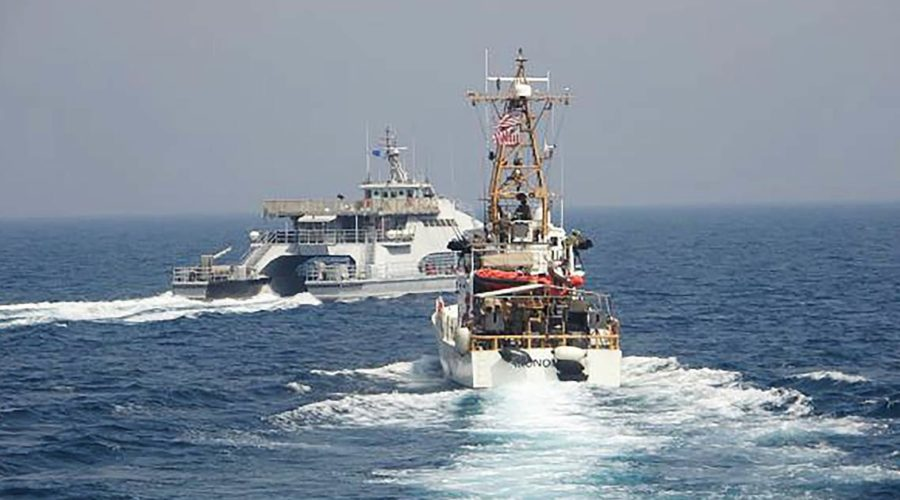 Iran and US warships in tense first Middle East encounter in a year