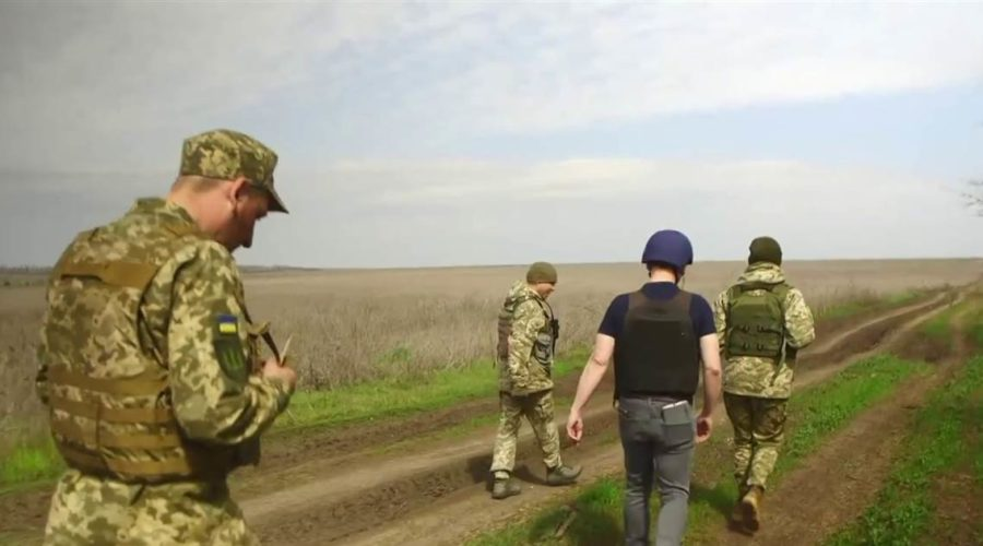 On the frontlines in Ukraine as Russia tests Biden's foreign policy