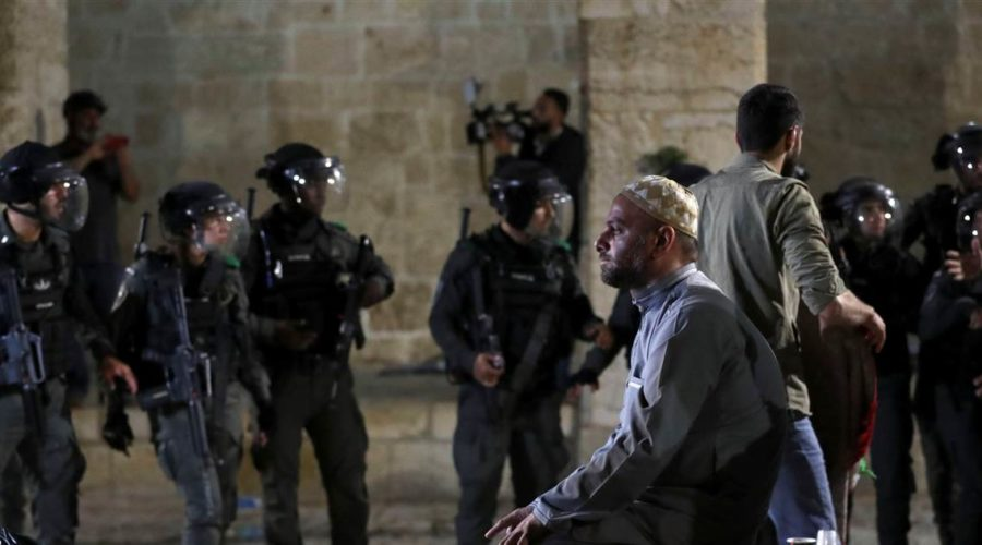 Dozens of Palestinians injured in clashes with police at sacred site in Israel