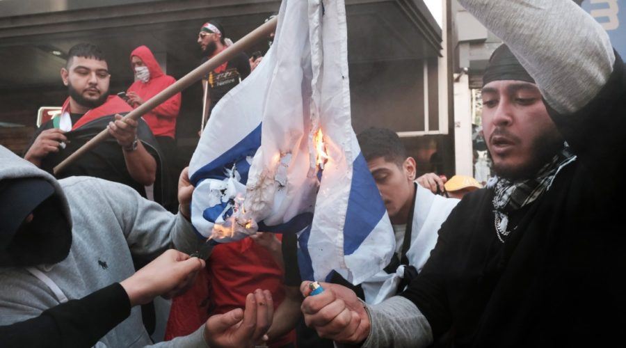 Anti-Semitic incidents escalated across the United States amid the Israel-Gaza fighting; mosques were also damaged