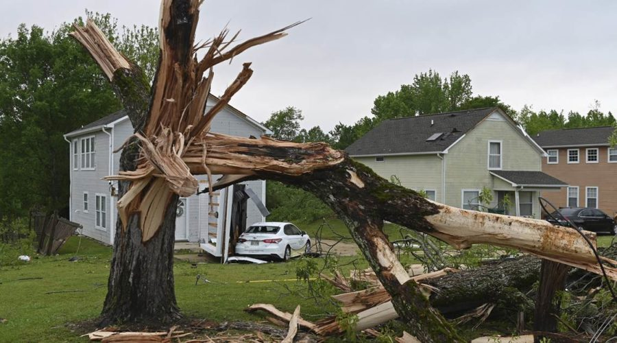 Large and dangerous tornado hits northeastern Mississippi