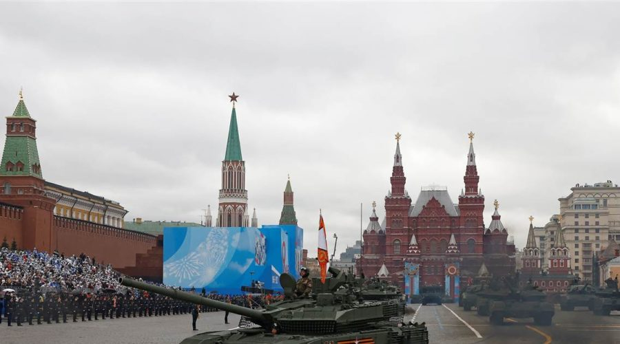 Putin reviews Russian military might on 'Victory Day' amid tensions with the West
