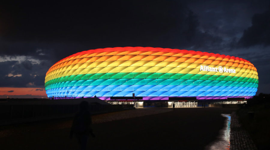 Euro 2020 football stadium LGBT rainbow plan rejected for being too 'political'
