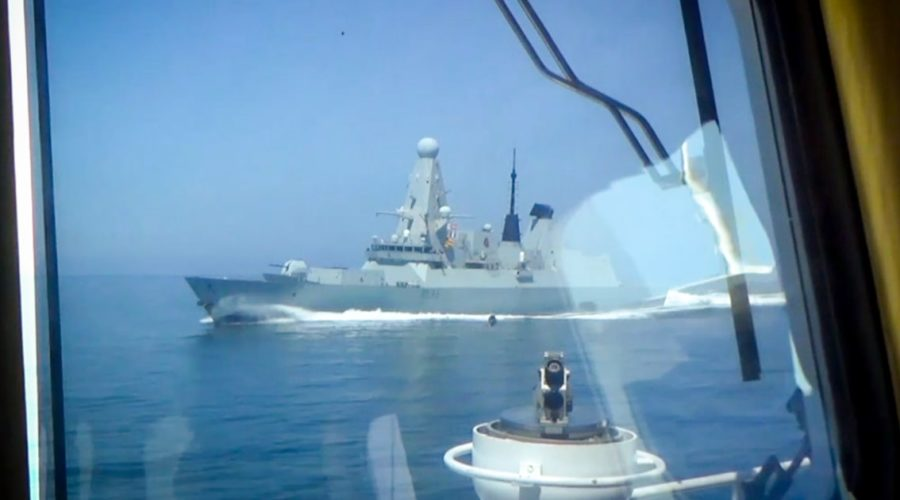 Russia says it could shoot warships after Black Sea incident with British destroyer
