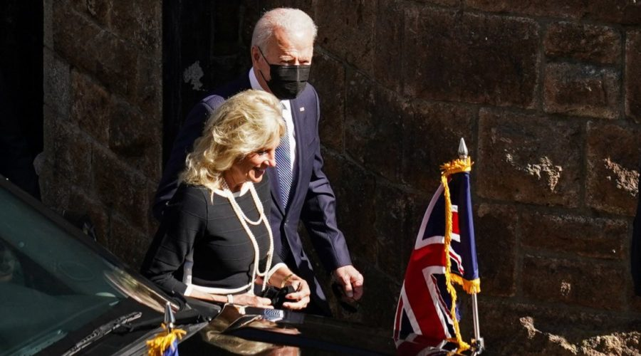 British worshipers stunned when Bidens joins them in Sunday service