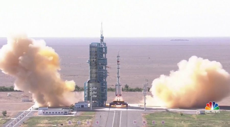 China sends astronauts into space on mission to new space station
