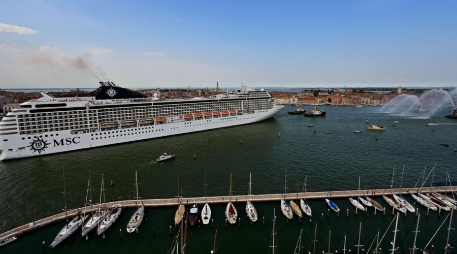 Economy or environment? The return of the cruise ship divides Venice