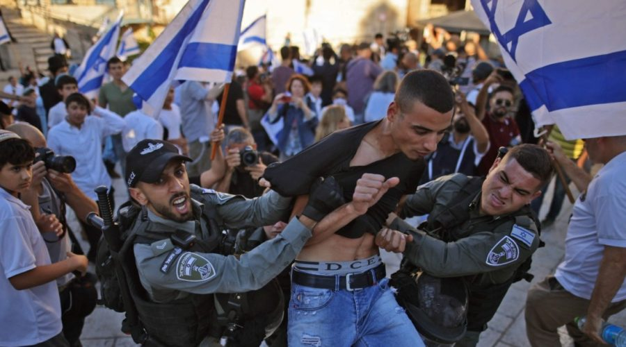 Israeli flag march angering Palestinians
