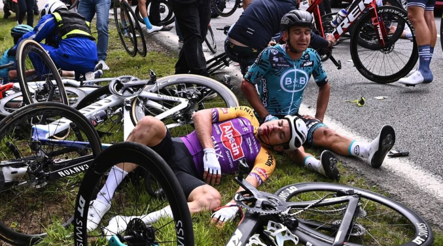 Police are looking for spectator who sparked chaotic Tour de France crash