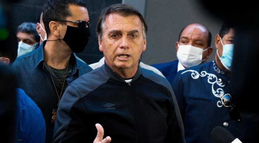 Brazilian Bolsonaro leaves hospital after treatment for intestinal problem and hiccups