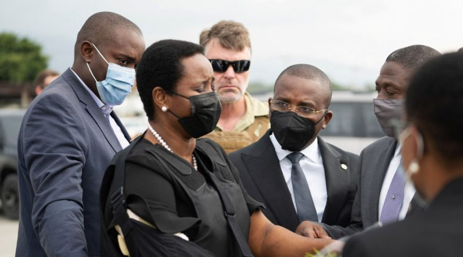 Widow of assassinated Haitian president Martine Moise returns home for funeral