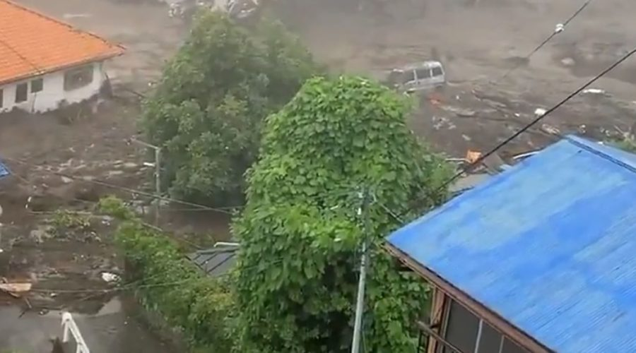 At least 19 people missing after powerful mudslide swept through homes in Japan