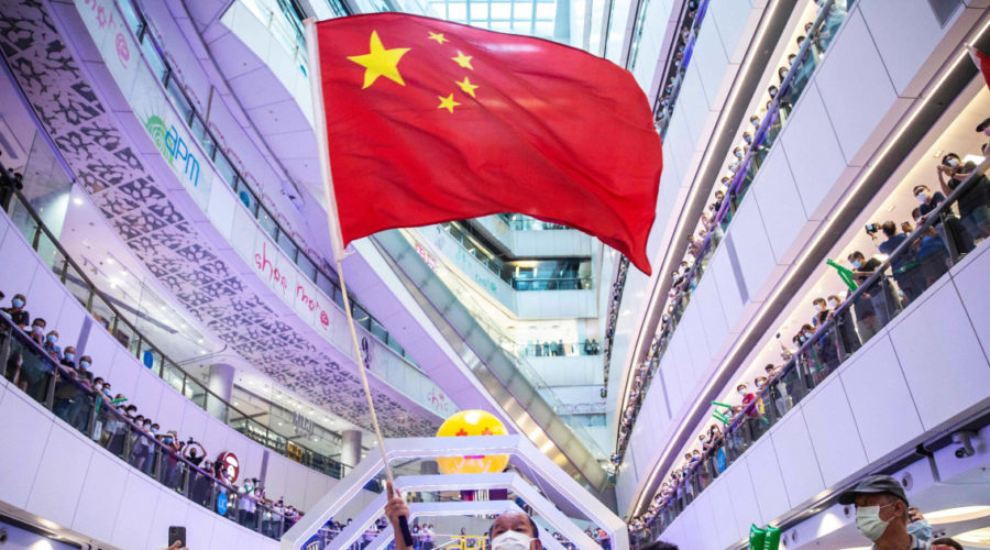 Hong Kong investigates Chinese anthem boos as Olympics broadcast in mall