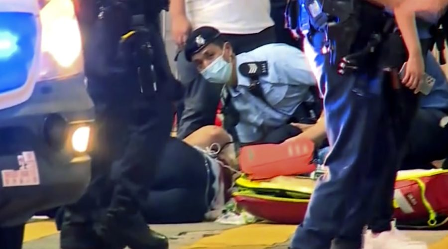 Hong Kong policeman stabbed in 'lone wolf' attack, security chief says